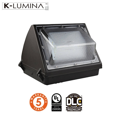 55W LED Wall Pack Light - Semi Cutoff - Forward Throw - Photocell Included - UL&DLC - 5 Year Warranty